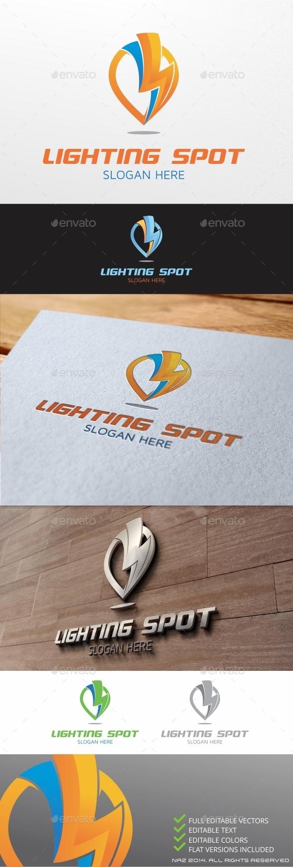 GraphicRiver Lightning Spot Logo 9895845