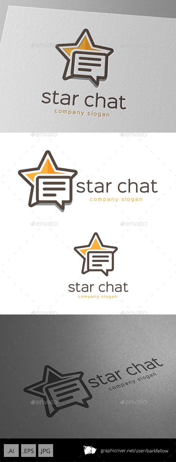 Star Chat Logo Design
