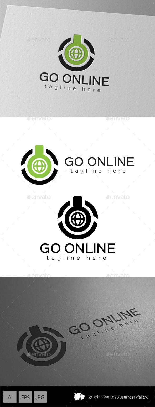 GraphicRiver Computer Power Online Logo 9896008