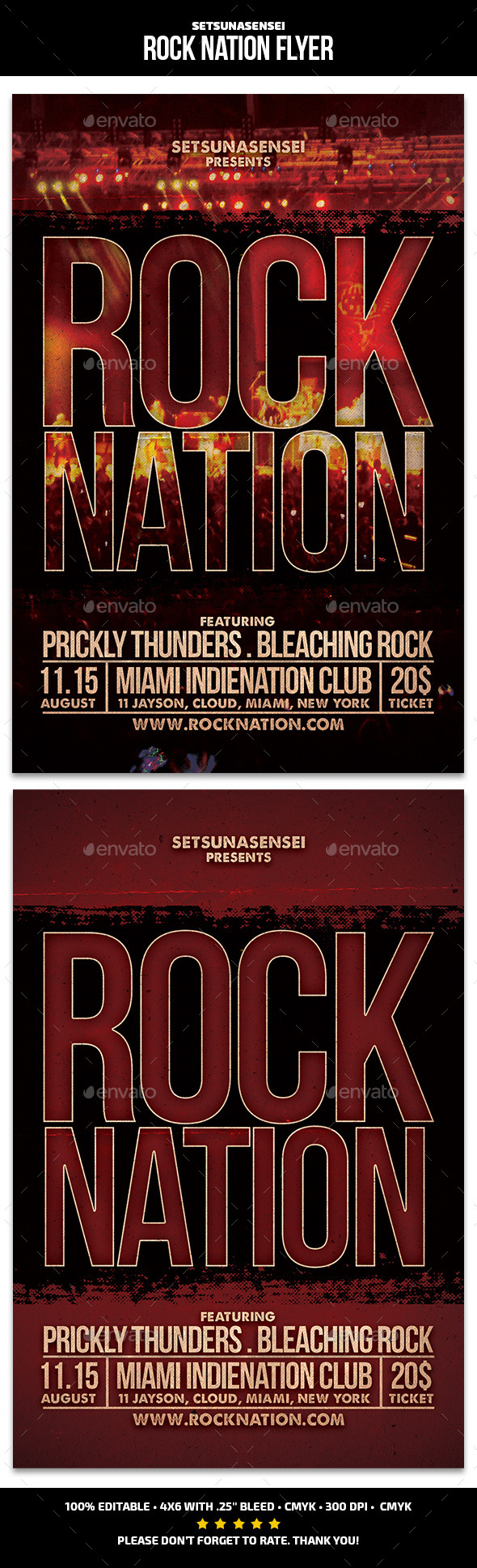 GraphicRiver Rock Nation Flyer 9860685
