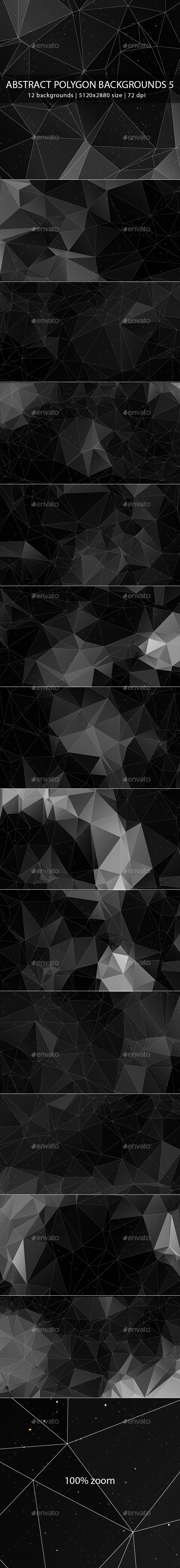 GraphicRiver Abstract Polygon Backgrounds 5 9896263