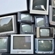 Stack or pile of CRT Display Television or TV - PhotoDune Item for Sale