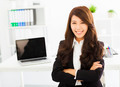 happy young business woman working in the office - PhotoDune Item for Sale