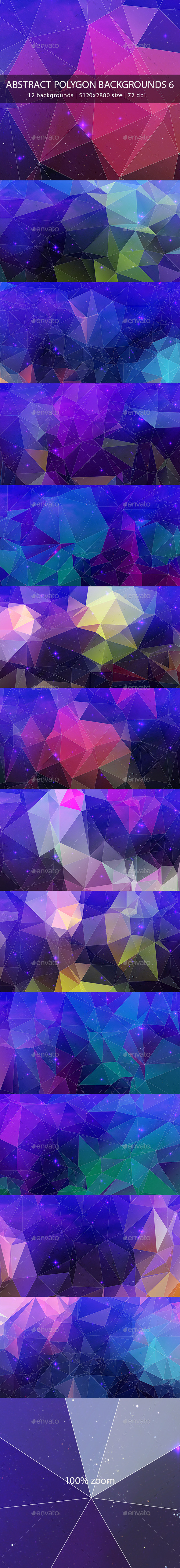 GraphicRiver Abstract Polygon Backgrounds 6 9896387