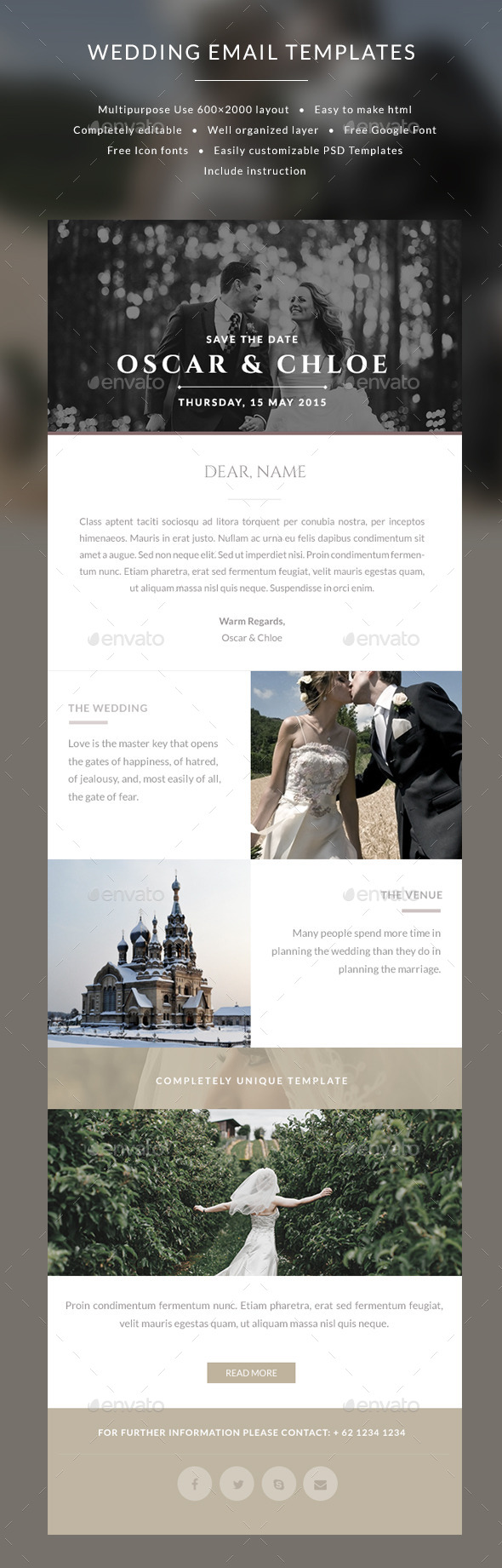 GraphicRiver Email Wedding Invitation templates Oscar 9896676