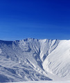 Off-piste slope with traces of avalanche in sun morning - PhotoDune Item for Sale
