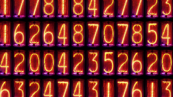 Nixie Clock Numerical Counter Videowall 10