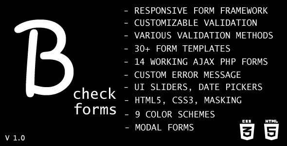 CodeCanyon B-check Forms 9848663