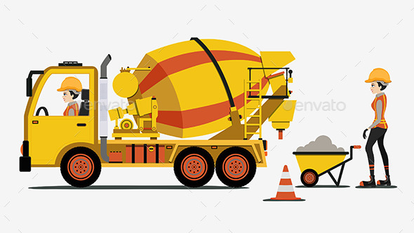 GraphicRiver Cement Truck 9897271