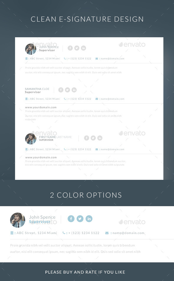 GraphicRiver Simple E-mail E-signature 9897517