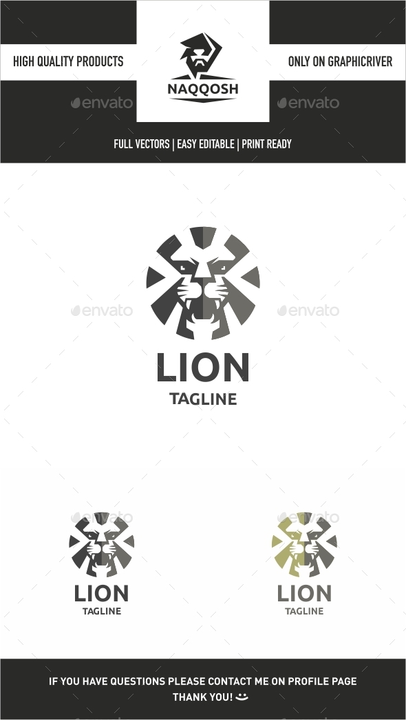 GraphicRiver Lion Logo 9897653