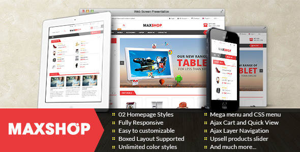ThemeForest Maxshop Premium Multipurpose Magento Theme 9897734