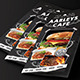 Blackboard Food Menu (Trifold) + Business Card - GraphicRiver Item for Sale