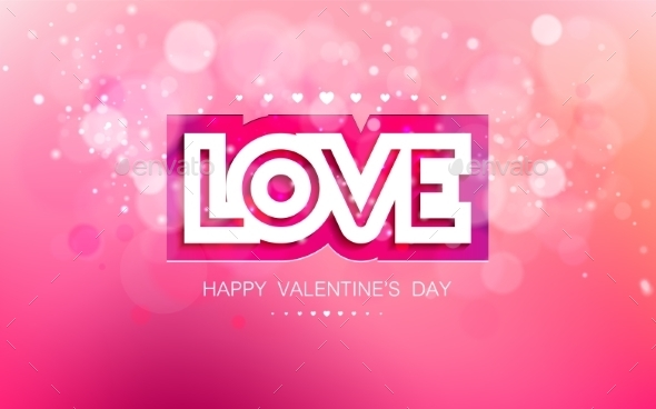 GraphicRiver Love in Pink for Valentines 9898451
