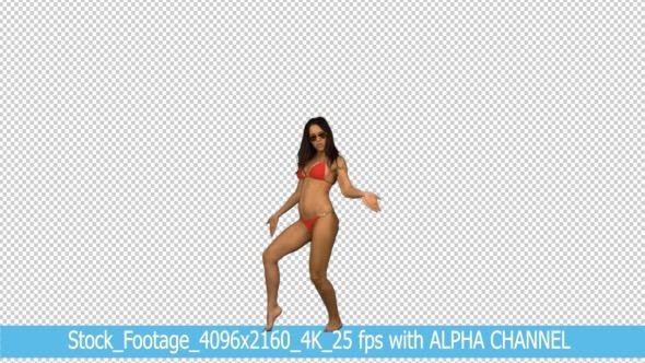 VideoHive Bikini Dance Woman with Alpha Channel 9898743