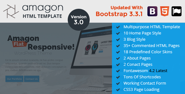 Amagon: Bootstrap Flat Multipurpose HTML5 Template
