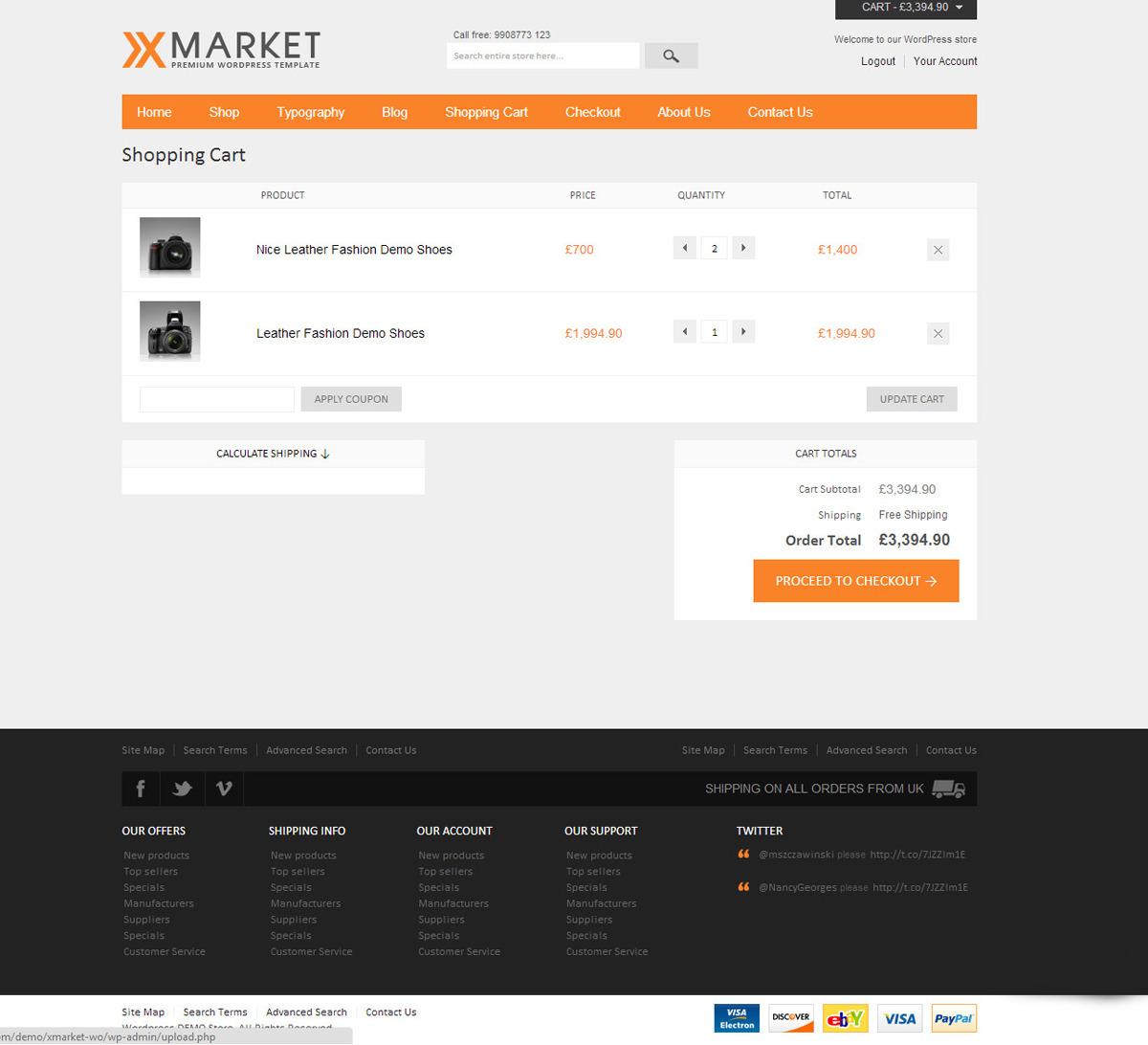 XMarket - Responsive WordPress E-Commerce Theme