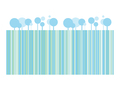 Blue trees concept for banners or your text on white background  - PhotoDune Item for Sale