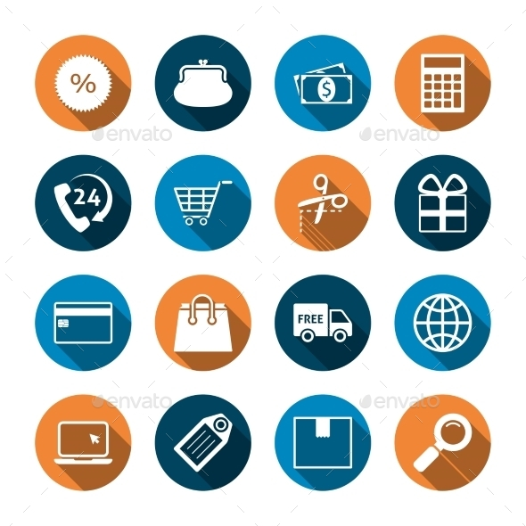 GraphicRiver Shopping Icons with Shadow 9899550