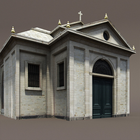 3DOcean Church Roman #84 Low Poly 3D Model 9899558