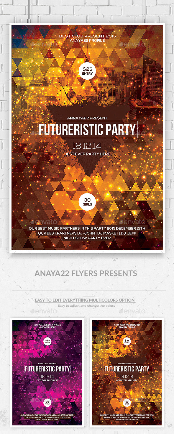 Abstract Future Flyer Psd Templates