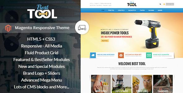 ThemeForest Tools Magento Responsive Theme 9900112