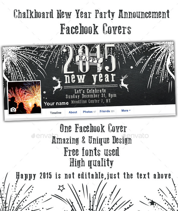 GraphicRiver New Year Party Announcement Facebook Cover 9860340