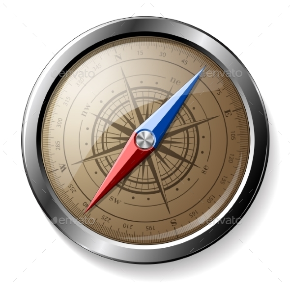GraphicRiver Steel Compass 9900224