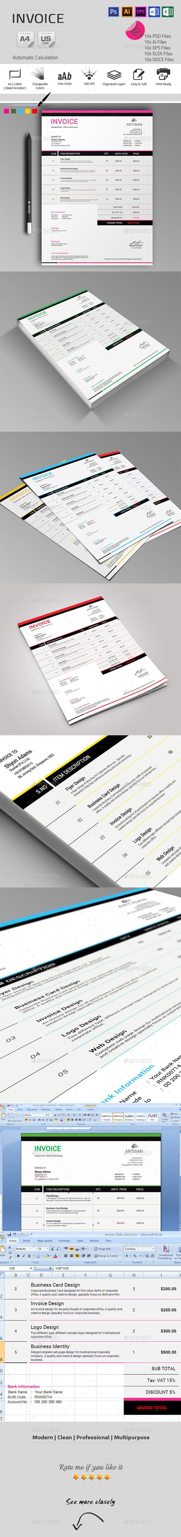 GraphicRiver Invoice 9900319