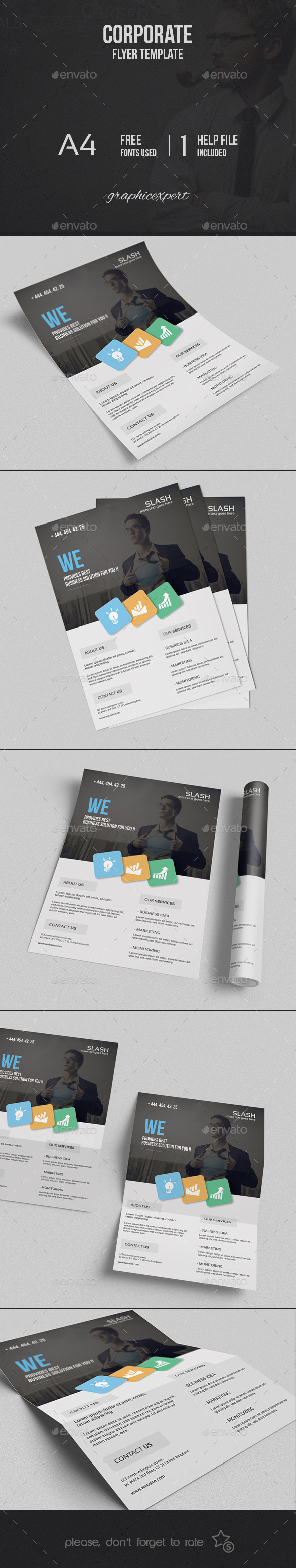 GraphicRiver Corporate Flyer Template 9827804