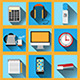 Set of 9 Vector Office Icons - GraphicRiver Item for Sale