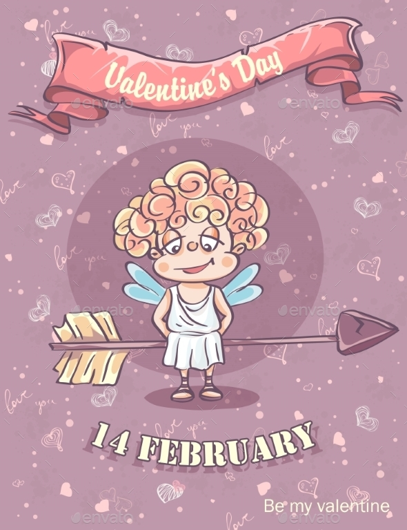GraphicRiver Greeting Card for Valentines Day 9900476