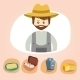 Set of Colorful Farm Icons - GraphicRiver Item for Sale