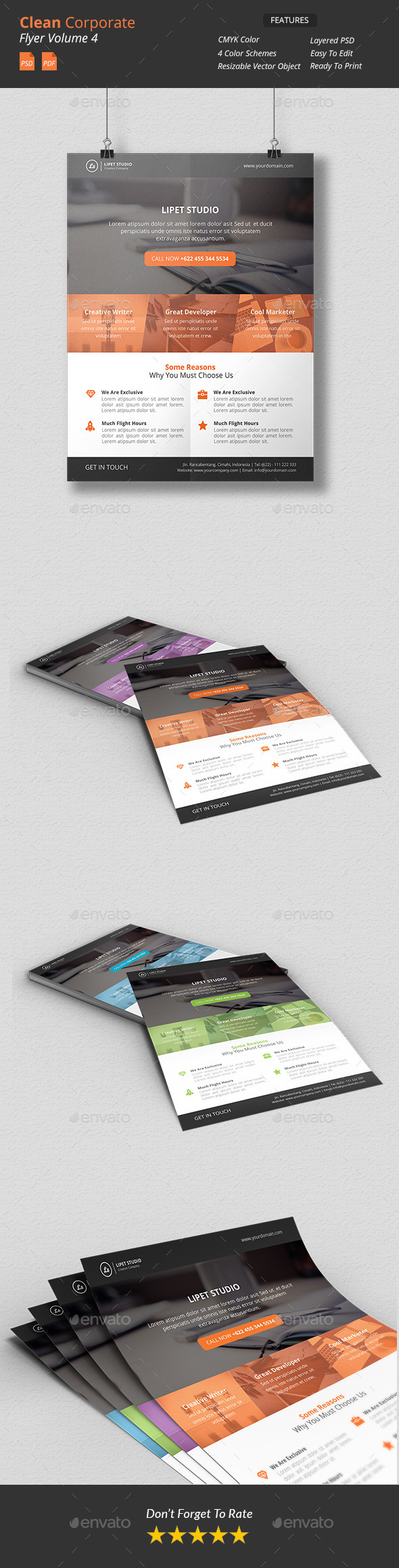 GraphicRiver Clean Corporate Flyer v4 9900773