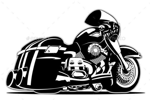 GraphicRiver Cartoon Motorbike 9900795