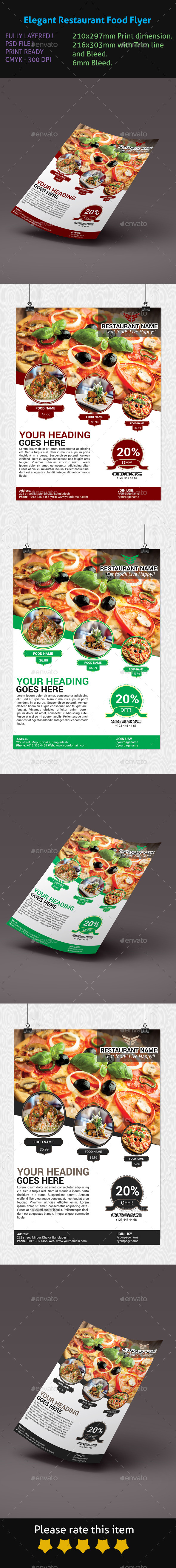 GraphicRiver Elegant Restaurant Food Flyer 9901937