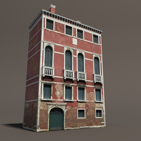 3DOcean Venice Building #133 Low Poly Building 9901993