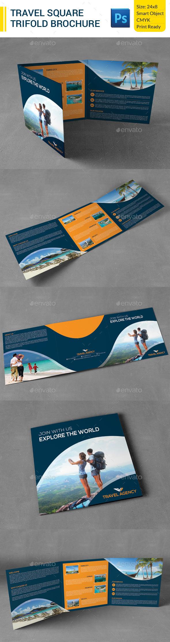 GraphicRiver Travel Square Trifold Brochure 9902084