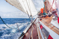 sail boat navigating on the waves - PhotoDune Item for Sale
