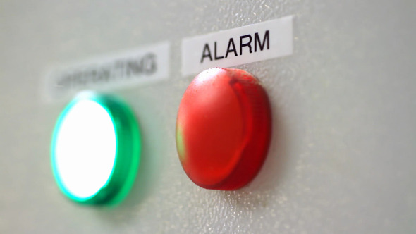 Green Operating and Red Alarm Buttons