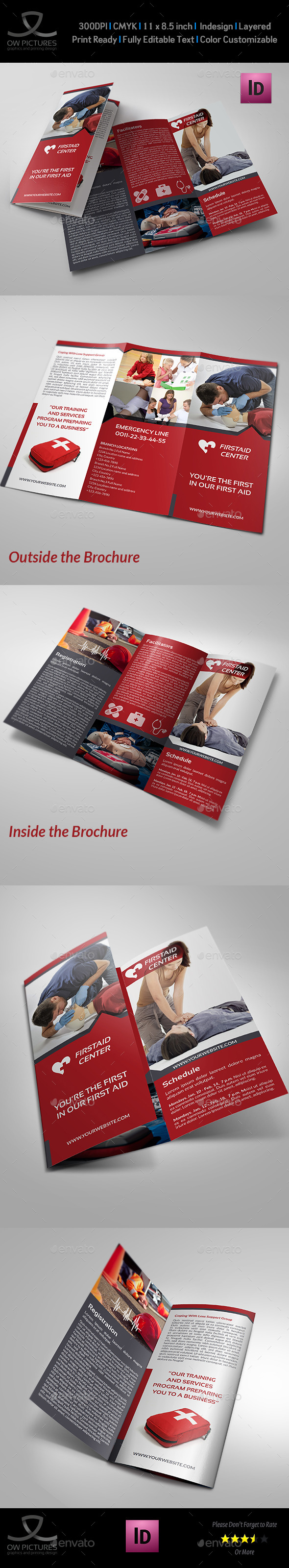 GraphicRiver First Aid Training Tri-Fold Brochure Template 9902463