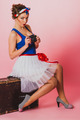 Pin Up Girl With Film Camera - PhotoDune Item for Sale