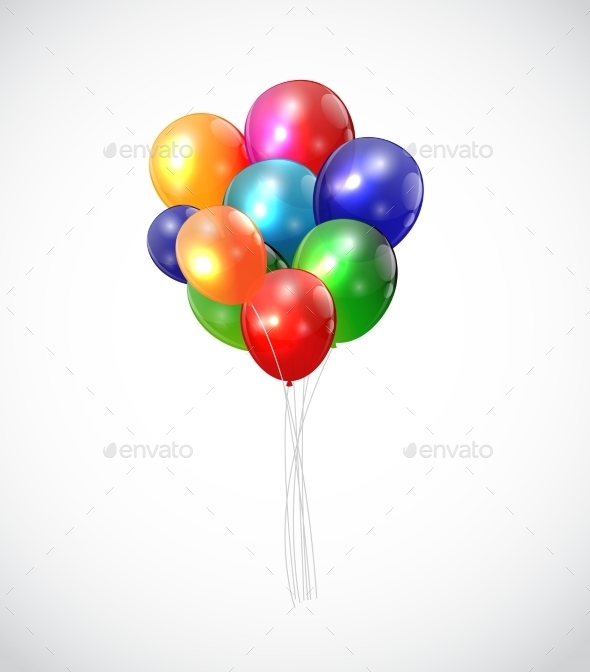 GraphicRiver Color Glossy Balloons Background 9902826