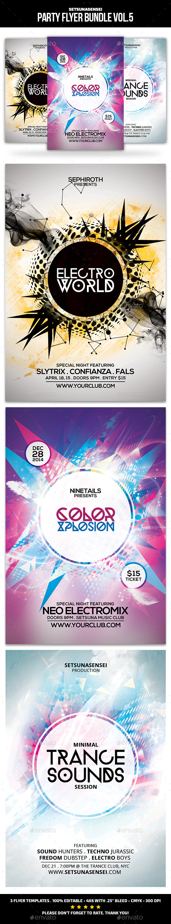 GraphicRiver Party Flyer Bundle Vol.5 9903192