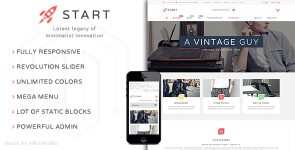 ThemeForest Start Multi-Purpose Responsive Magento Theme 9903291