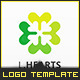 Clover Love Hearts - Logo Template - GraphicRiver Item for Sale