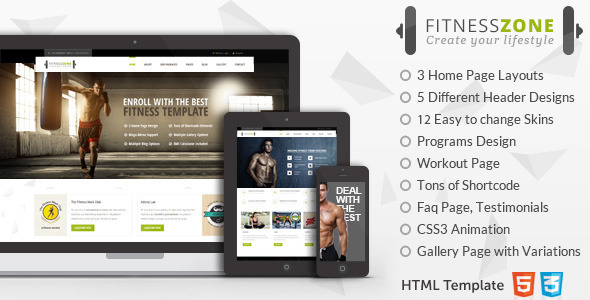 Fitness Zone Sports Template for Gym & Fitness