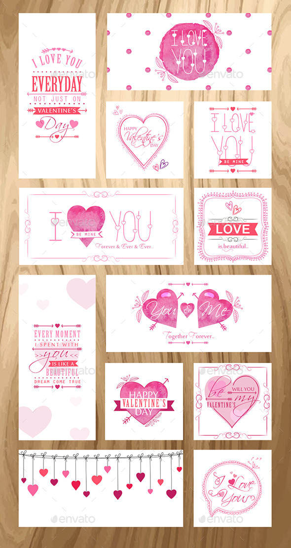 GraphicRiver Valentine s Day Greeting Cards 9872617