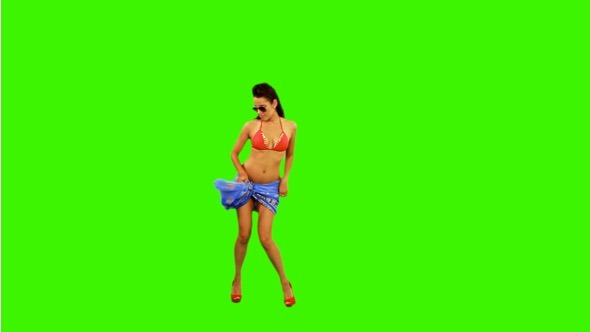 Bikini Dance on Green Screen