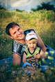 Father And Son In Park Smiling Happily - PhotoDune Item for Sale